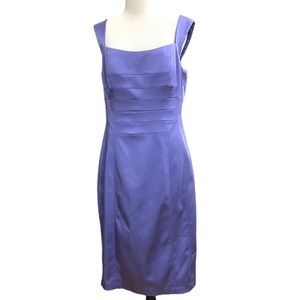 JAX Square Neck Sleeveless Sheath Dress Purple